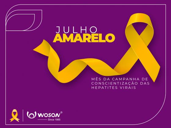 Julho Amarelo Mês da Campanha de Conscientização  das Hepatites Virais